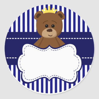 Adesivo Bear King - Round Sticker