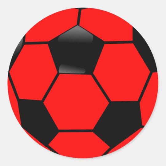 f57adb999797b Adesivo Bola de futebol vermelha