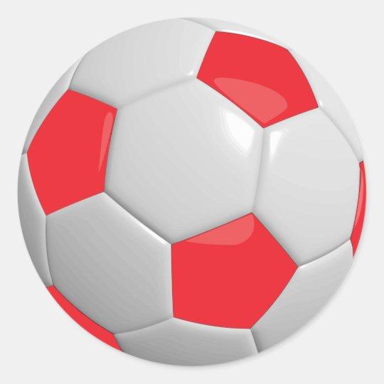 839f656609fb4 Adesivo Bola de futebol vermelha e branca do esporte