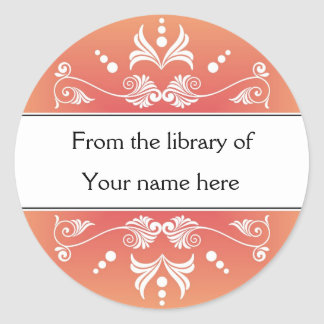 Adesivo Bookplates personalizados - Flourishes coloridos