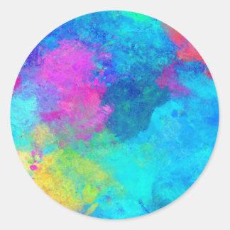 Adesivo botão abstrato do arco-íris