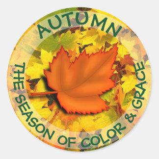 Adesivo Botão das citações do outono