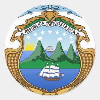 Adesivo Brasão de Costa Rica - escudo de Costa Rica