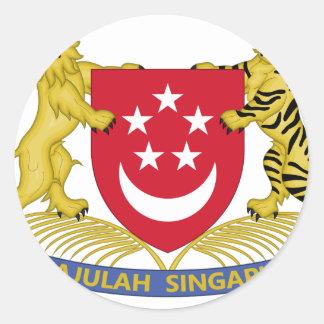 Adesivo Brasão do emblema do 新加坡国徽 de Singapore
