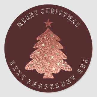 Adesivo Bronze cor-de-rosa de Borgonha do ouro da árvore