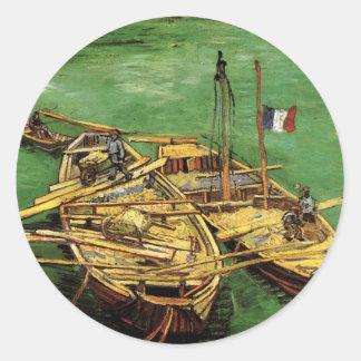 Adesivo Cais de Van Gogh com os homens que descarregam