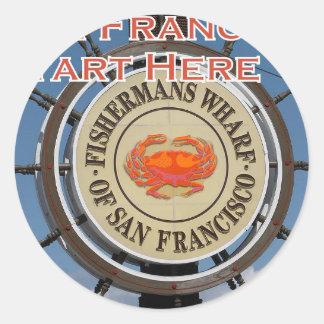 Adesivo Cais San Francisco Califórnia EUA CA de Fishermans