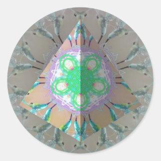 Adesivo Caleidoscópio 3d do pássaro do zumbido do