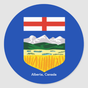 Adesivo Canadá: Bandeira de Alberta, vinheta canadense