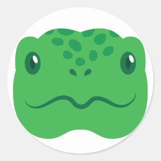 Adesivo cara pequena bonito da tartaruga da tartaruga