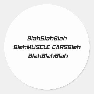 Adesivo Carro blá do músculo blá