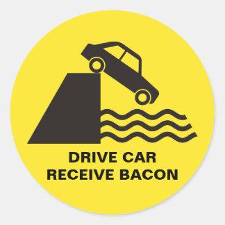 Adesivo Carro da movimentação - receba o bacon