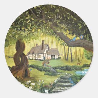 Adesivo Casa de campo nas madeiras