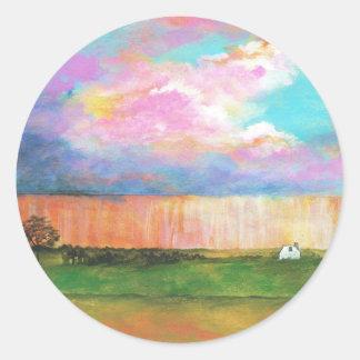 Adesivo Casa minúscula da fazenda da tempestade da pintura
