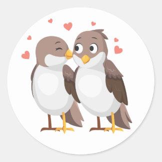 Adesivo Casamento de Brown dos Lovebirds, chá de panela,