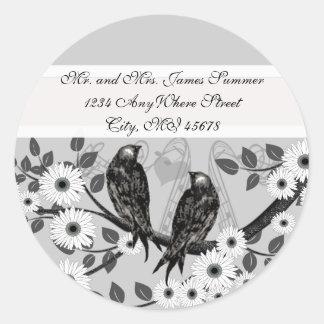 Adesivo Casamento Enchanted do pássaro do amor da floresta