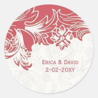 Adesivo Casamento floral do rosa e o branco do primavera
