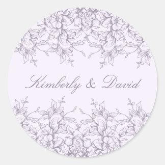 Adesivo Casamento floral romance da lavanda