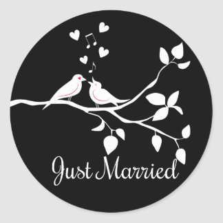 Adesivo Casamento preto e branco do recem casados dos