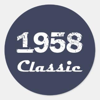 Adesivo Celebração do aniversário de 1958 clássicos 60th