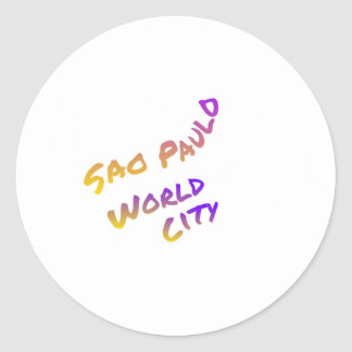 Adesivo Cidade do mundo de Sao Paulo, arte colorida do