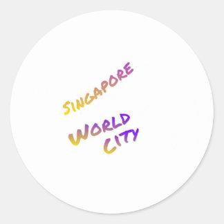 Adesivo Cidade do mundo de Singapore, arte colorida do