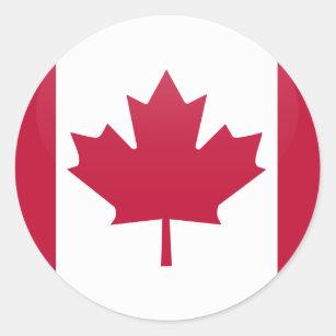 Adesivo Círculo da bandeira da qualidade de Canadá