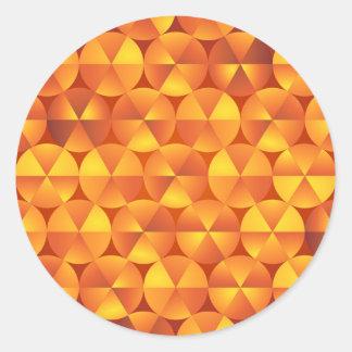 Adesivo Círculos alaranjados