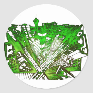 Adesivo city em 3 point version perspective special green