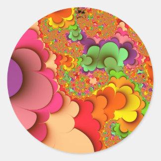 Adesivo Colagem de papel abstrata do Fractal