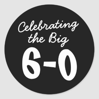 Adesivo Comemorando o 60th aniversário grande