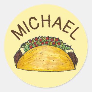 Adesivo Comida personalizada do mexicano do Taco de Foodie