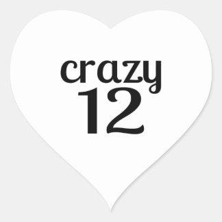 Adesivo Coração 12 designs louco do aniversário