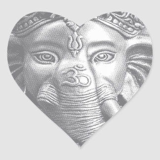 Adesivo Coração 3d senhor Ganesha - OM