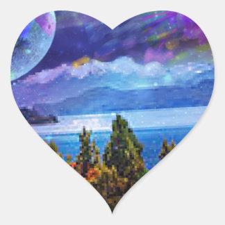 Adesivo Coração A fantasia e a imaginação vivem junto
