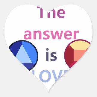 Adesivo Coração A resposta é o amor (v1)