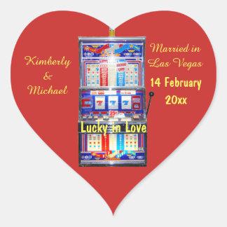 Adesivo Coração Afortunado no slot machine do amor