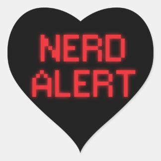 Adesivo Coração Alerta do nerd