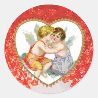 Adesivo Coração antigo do anjo dos namorados (Cupido)