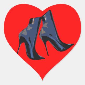 Adesivo Coração Arte na moda da bota