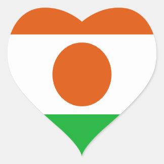 Adesivo Coração Baixo custo! Bandeira de Niger