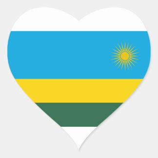Adesivo Coração Baixo custo! Bandeira de Rwanda