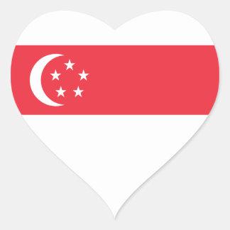 Adesivo Coração Baixo custo! Bandeira de Singapore