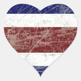 Adesivo Coração Bandeira da Costa Rica