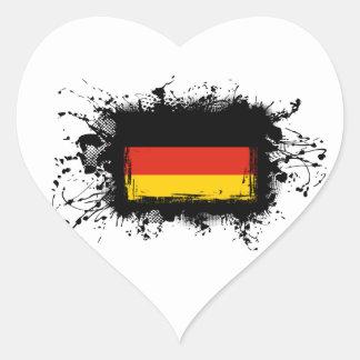 Adesivo Coração Bandeira de Alemanha