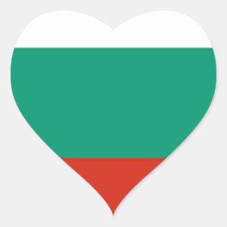Adesivo Coração Bandeira de Bulgária