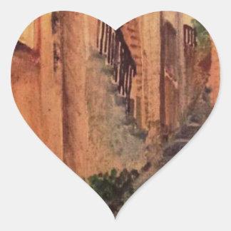 Adesivo Coração Beco velho