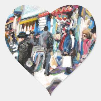 Adesivo Coração bolas de praia de Dublin da rua de moore