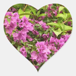 Adesivo Coração Bougainvillea roxo tropical
