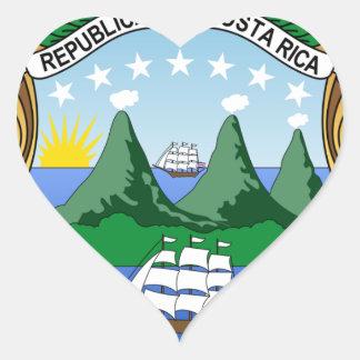 Adesivo Coração Brasão de Costa Rica - escudo de Costa Rica